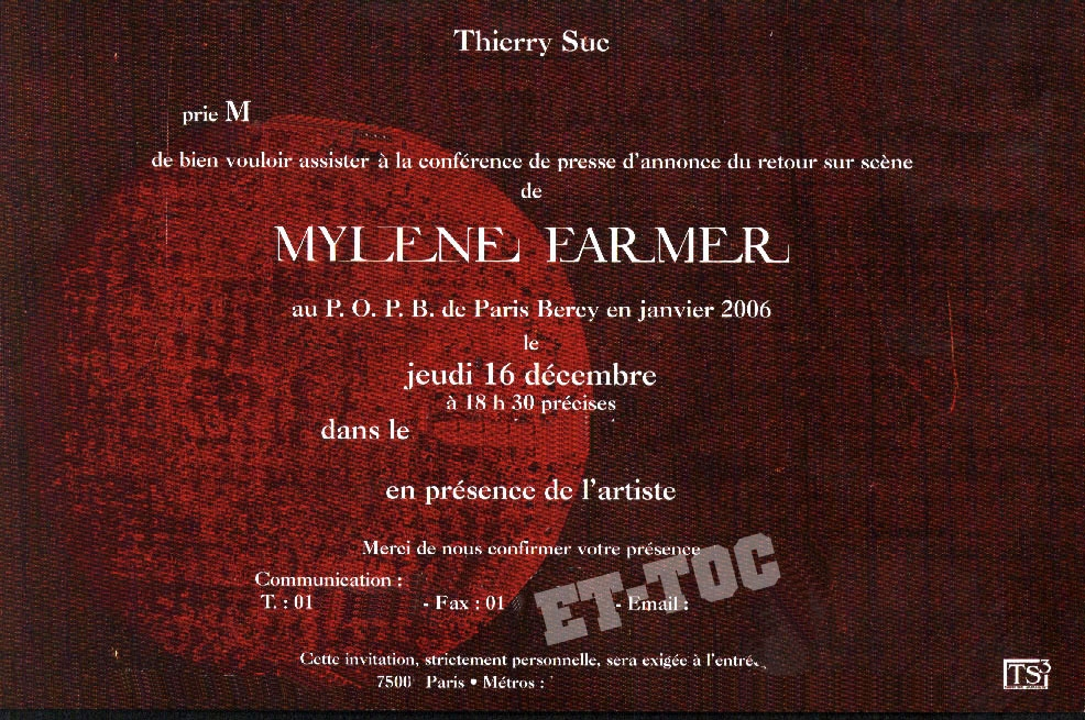 Mylène Farmer / Hasards